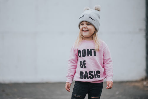 Don't Be Basic Pullover Pink