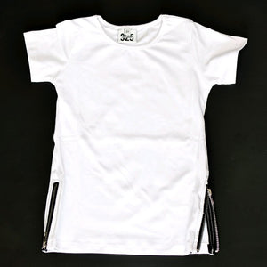 White Side Zip Tee