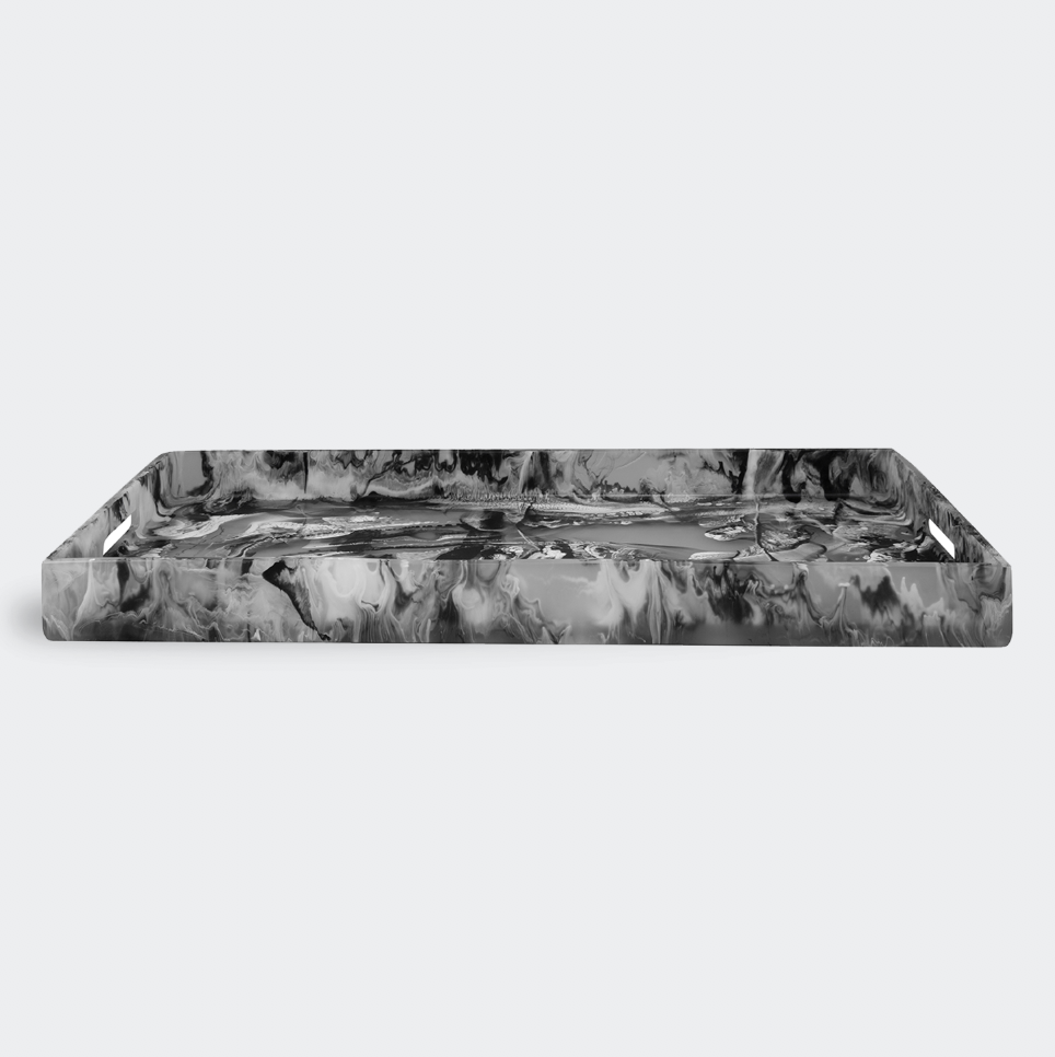 Nashi Home Resin Serving Tray with Handles