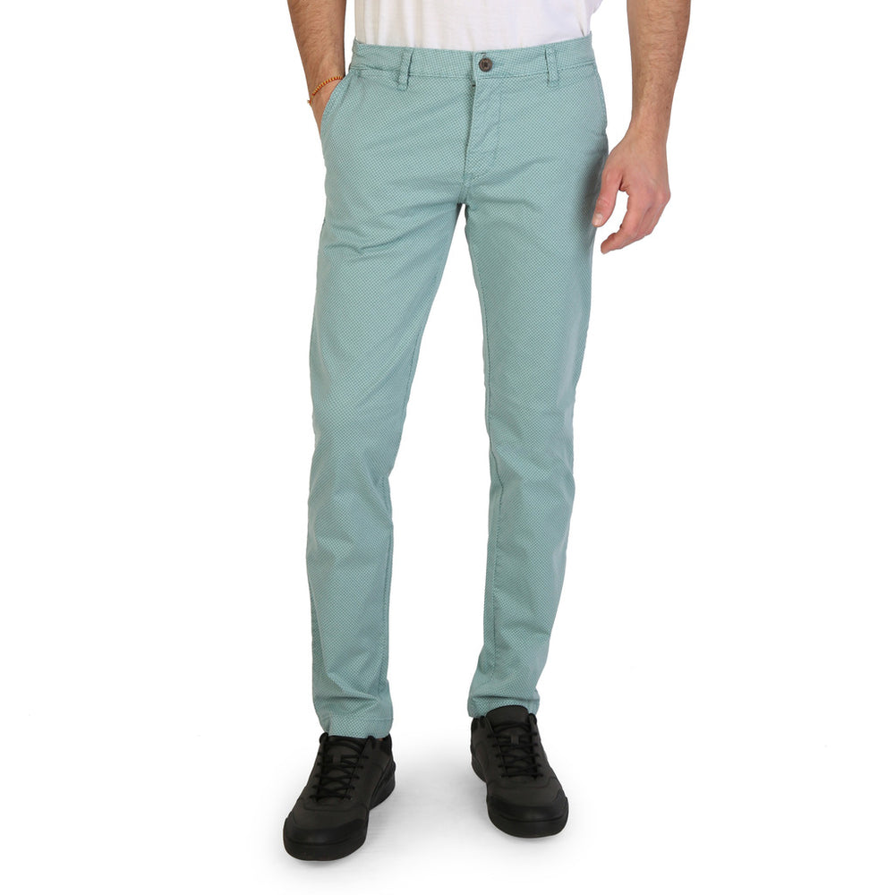 Herrenmode Rifle 73731_rb10r Blue Cotton Trousers New Season Hosen