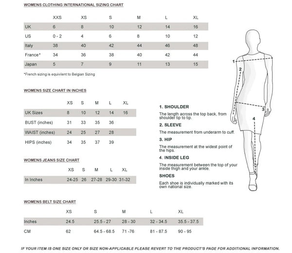 Womens Size Clothing Chart