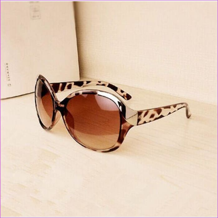 2015 High Quality Women Sunglasses Luxury Fashion Summer Sun Glasses Womens Vintage Sunglass Goggles Eyeglasses R167 - Leopard - Sun Glasses