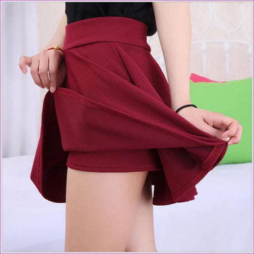 2015 Hot Women Bust Shorts Skirt Pants Pleated Plus Size Fashion Candy Color Skirts 9 Colors C718 - Skirts cf-color-black cf-color-blue