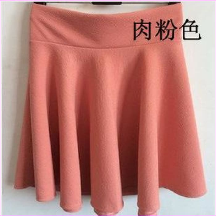 2015 Hot Women Bust Shorts Skirt Pants Pleated Plus Size Fashion Candy Color Skirts 9 Colors C718 - pink / One Size - Skirts cf-color-black