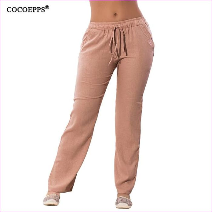 2017 Autumn Women Harem pants 5XL 6XL Plus Size Elastic Waist Pants Casual Big Size Solid Chiffon Long Pants Large Size Trousers - Khaki /
