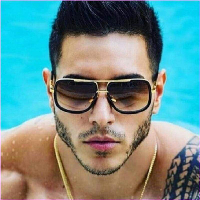 2018 Brand Design Men Sunglasses Vintage Double-Bridge Driving Male Sunglass Mirror Women Sun Glasses Men Eyewear Oculos de sol - Mens