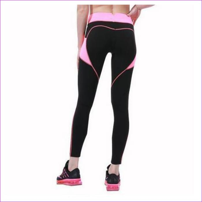 2018 New Quick-drying Gothic Leggings Fashion Ankle-Length Legging Fitness Leggings with Pocket - blackpink / L - Leggings cf-color-black
