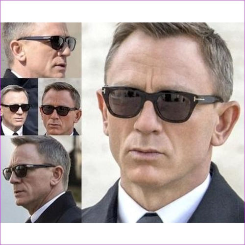2018 Square James Bond Sunglasses Men Brand Designer GlassesWomen Super Star Celebrity Driving Sunglasses Tom for Men Eyeglasses - Mens
