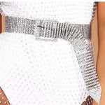 Rhinestone Inlaid Women's Belt Waistband Bride Bling Crystal Belts