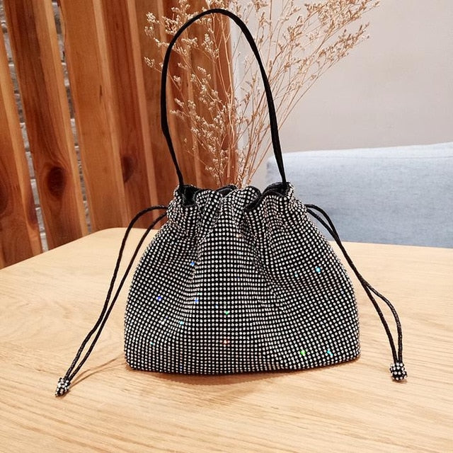 Bling Top Handle Bag Diamond Handbag  Crystal Evening Bag  rhinestone shoulder bag
