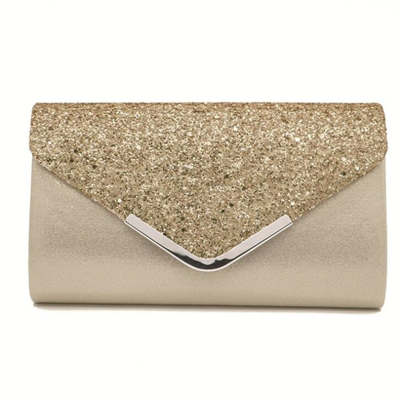 Sequin evening bags silk bling clutch purse party dinner bags for ladies casual clutch bags