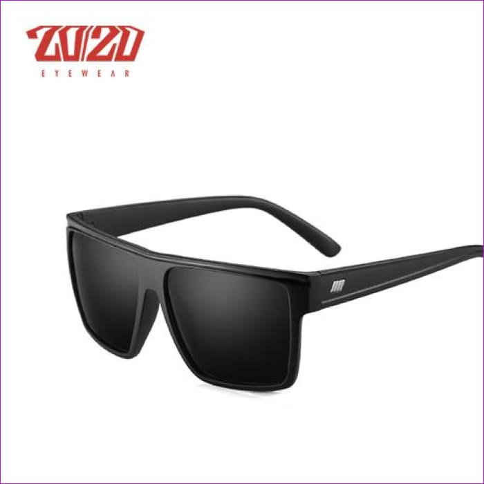 20/20 Brand Design New Polarized Sunglasses Men Sun Glasses Male Classic Retro Mirror Eyewear Shades Oculos Gafas PL331 - C02 MatteBlack