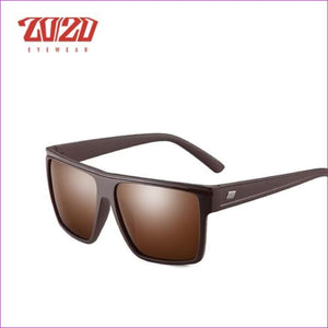 20/20 Brand Design New Polarized Sunglasses Men Sun Glasses Male Classic Retro Mirror Eyewear Shades Oculos Gafas PL331 - C03 Brown Brown -