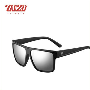 20/20 Brand Design New Polarized Sunglasses Men Sun Glasses Male Classic Retro Mirror Eyewear Shades Oculos Gafas PL331 - C04 Black Mirror -