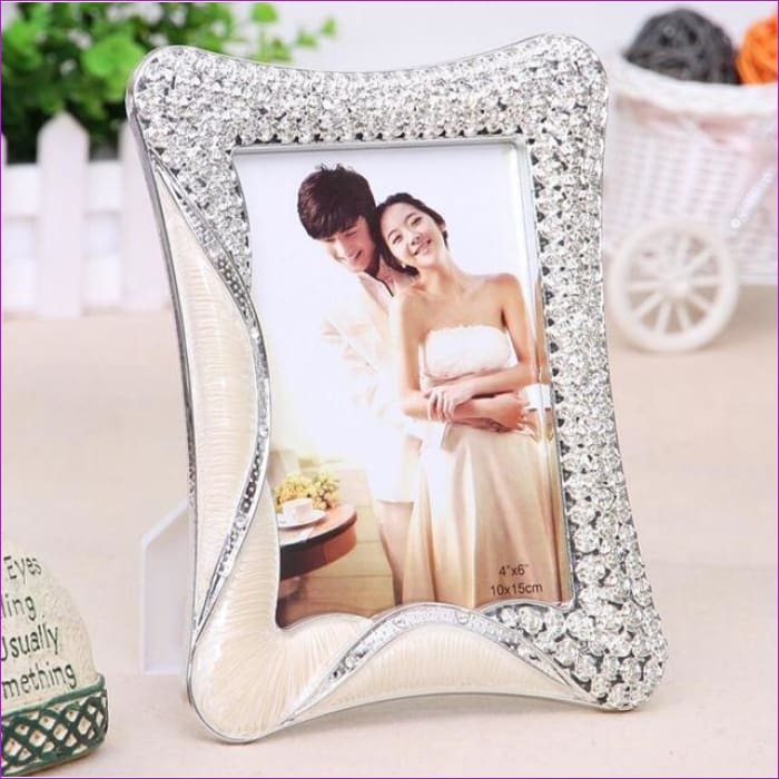6 inch & 7 inch picture frame Europea style photo frame Valentine s Day wedding gift Pendulum frame - silvery / 7 inch - Wedding Picture