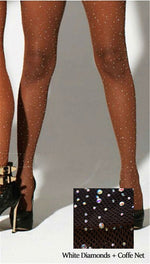 Rhinestone Hosiery Bling Fishnet Tights Stocking Pantyhose Glitter Nylons