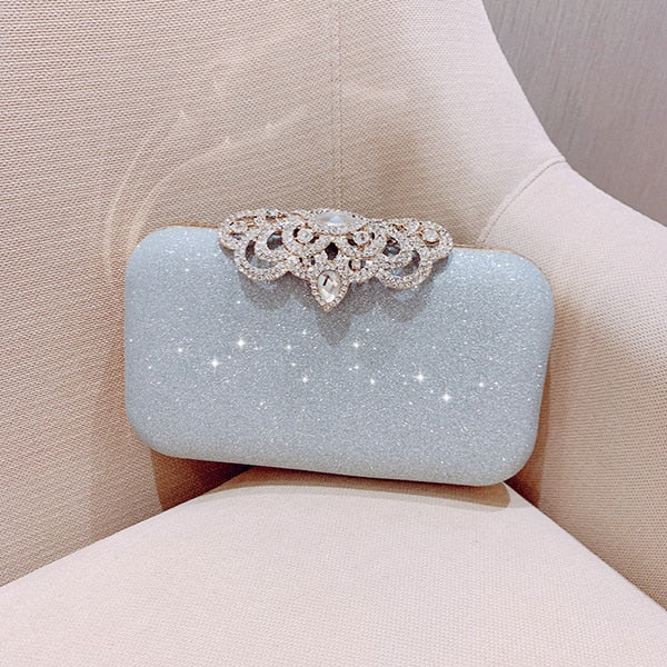 Sequined Scrub Clutch Women's Evening Bags Bling Day Clutches Gold Wedding Purse