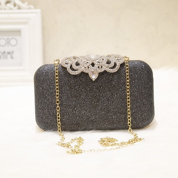 Paillettes Scrub Clutch Femmes Sacs de soirée Bling Day Clutches Gold Wedding Purse