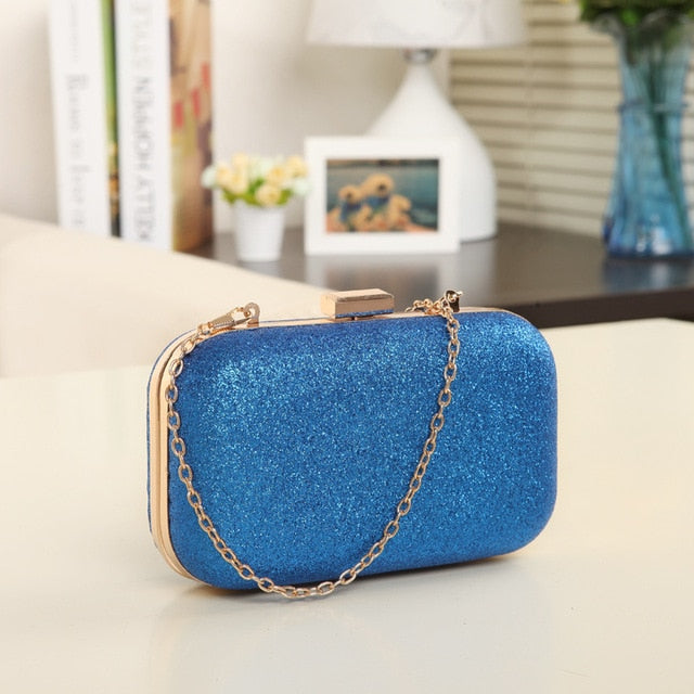 Sequined Scrub Clutch Women'S Evening Bags Bling Day Clutches