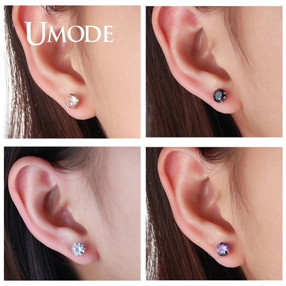 Small Sterling Silver 925 Stud Earrings Korean Jewelry Earrings Studs