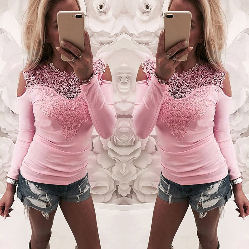 Pink Lace Glitter Tank Tops V-Neck Knitted Camisole Bling top
