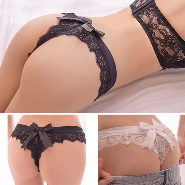 Transparent Thongs Lace Panties Underwear Erotic Lingerie