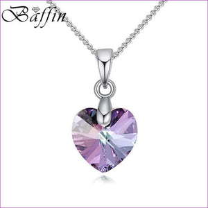 BAFFIN Mini XILION Heart Pendant Necklace Crystals From SWAROVSKI Elements Silver Color Chain Necklaces For Women Kids Jewelry - Pendants