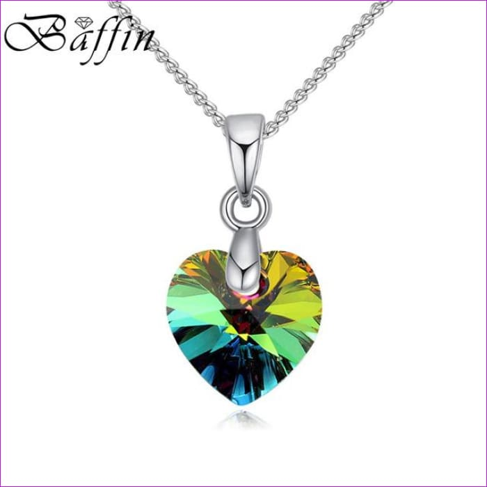 BAFFIN Mini XILION Heart Pendant Necklace Crystals From SWAROVSKI Elements Silver Color Chain Necklaces For Women Kids Jewelry - Crystal VM