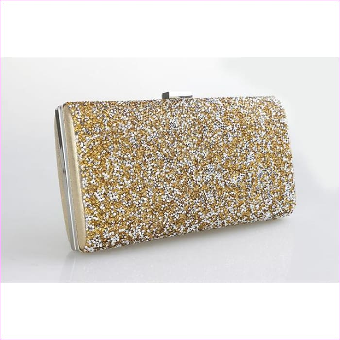 Black - Silver Wedding Diamond Rhinestone Clutches Crystal Bling Gold Clutch Bag - gold - Purses cf-color-black cf-color-gold