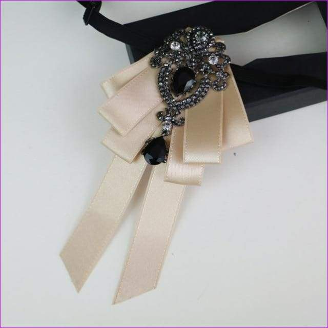 Bowties Tie Brooch Ribbon Flower Collar Rhinestone Cameo Pins And Brooches - 13 - Tuxedo Shirts