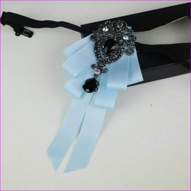 5455c71cf31f Bowties Tie Brooch Ribbon Flower Collar Rhinestone Cameo Pins And Brooches  - 18 - Tuxedo Shirts