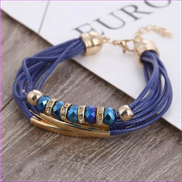 Bracelet Wholesale 2018 New Fashion Jewelry Leather Bracelet for Women Bangle Europe Beads Charms Gold Bracelet Christmas Gift - SL921 -