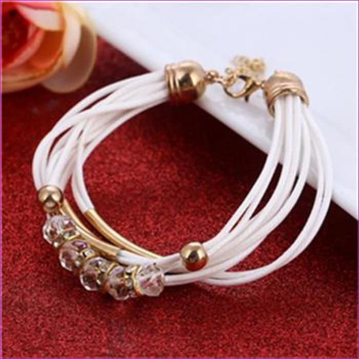 Bracelet Wholesale 2018 New Fashion Jewelry Leather Bracelet for Women Bangle Europe Beads Charms Gold Bracelet Christmas Gift - SL922 -