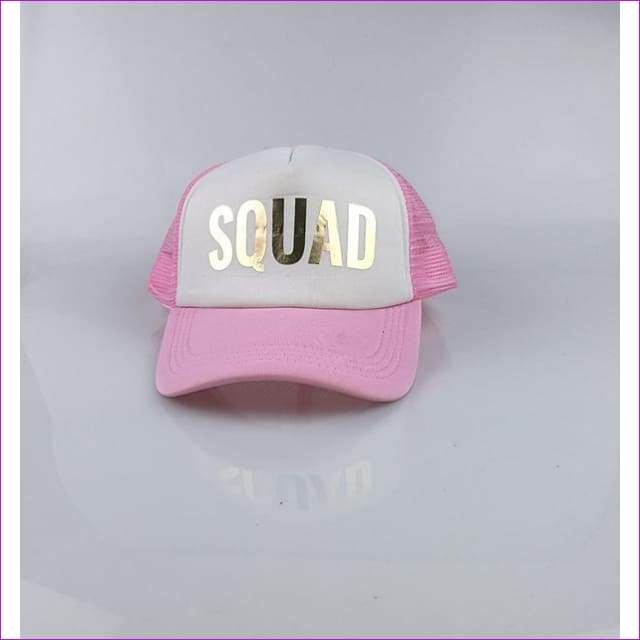 BRIDE TEAM BRIDE trucker hats basebal Caps for wedding party gold glitter pink mesh hats Summer style - SQUAD pink hat - Beach Hats
