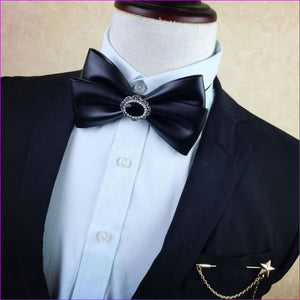 British Rhinestone Bow Tie Brooch Mens Brooches Pins General Bowtie - 10 - Tuxedo Shirts Tuxedo Shirts