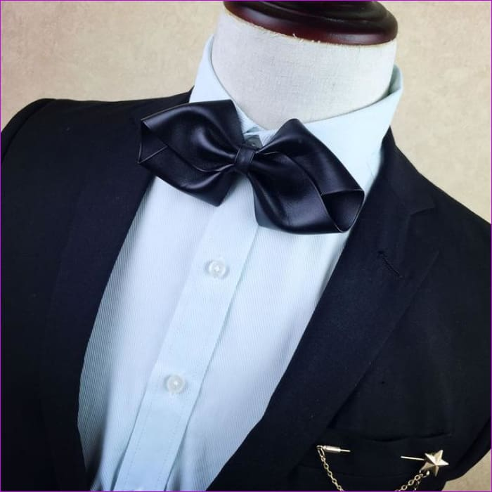 British Rhinestone Bow Tie Brooch Mens Brooches Pins General Bowtie - 6 - Tuxedo Shirts Tuxedo Shirts