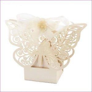 Butterfly Candy Box Wedding Favors and Gifts Box 20pcs/lot for Wedding Decoration - Beige - Wedding Favors