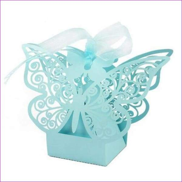 Butterfly Candy Box Wedding Favors and Gifts Box 20pcs/lot for Wedding Decoration - Blue - Wedding Favors
