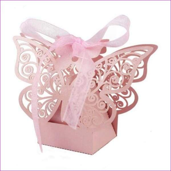 Butterfly Candy Box Wedding Favors and Gifts Box 20pcs/lot for Wedding Decoration - Pink - Wedding Favors