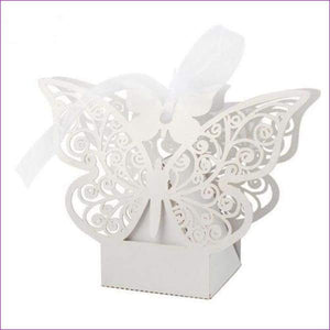 Butterfly Candy Box Wedding Favors and Gifts Box 20pcs/lot for Wedding Decoration - White - Wedding Favors