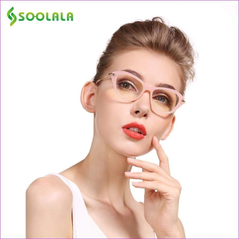 Cateye Reading Glasses Frame Reading Glasses +0.5 0.75 1.0 1.25 1.5 1.75 2.0 2.25 2.5 2.75 3.0 3.5 4.0 - Reading Glasses