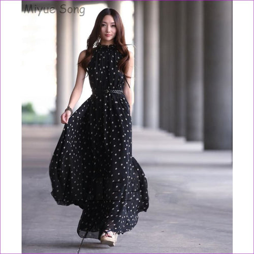 Chiffon Maternity Dresses Long Bohemian Party Evening Clothes For Pregnant Pregnancy Photography Props Photo Shoot Dress New Dot - Maternity