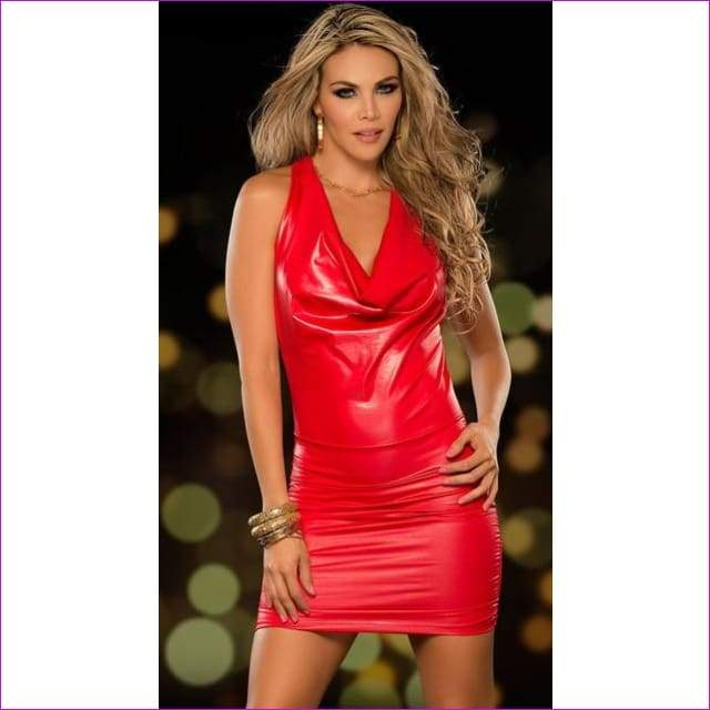 Cosplay Sexy Night Club Pole Dance Red Womens Tenue Sexy Erotic Dress Dancewear - 2 / One Size - Sexy Dresses