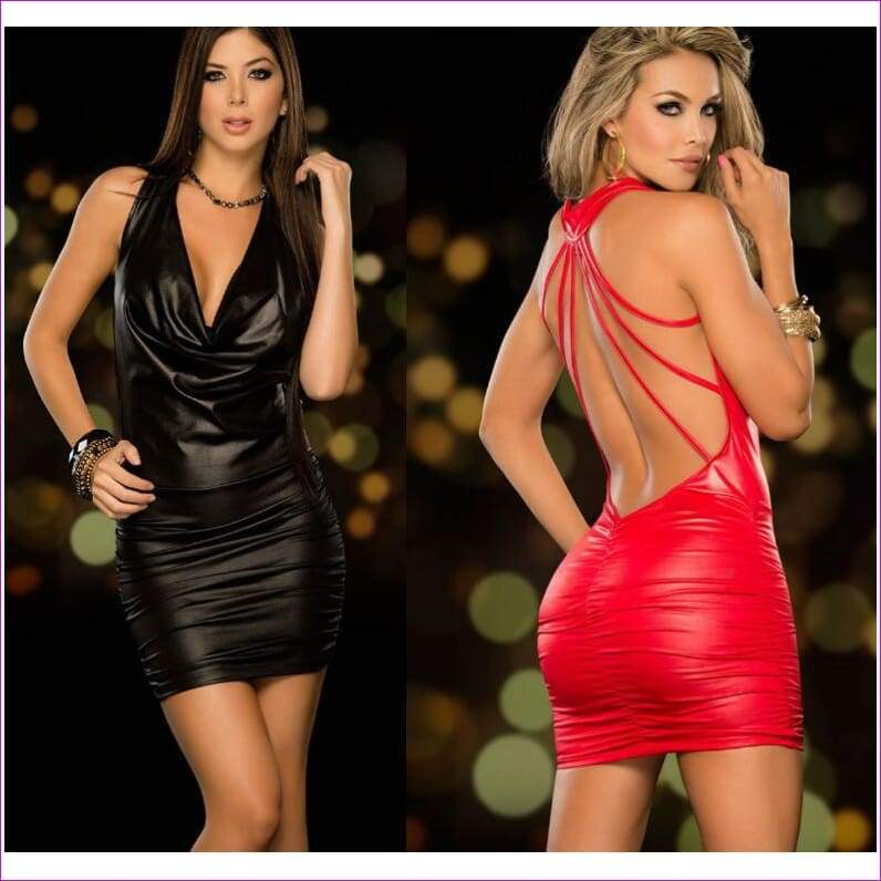 Cosplay Sexy Night Club Pole Dance Red Womens Tenue Sexy Erotic Dress Dancewear - Sexy Dresses
