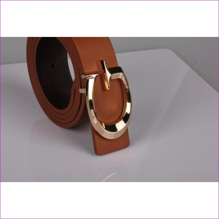 Designer Belts for Women Fashion Letter Smooth Buckle Belts Women Men Luxury Leather Belts for Unisex - brown / 110cm - Womens Belts