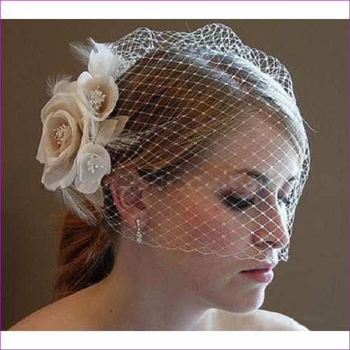 Elegant Wedding Hats for Ladies Bridal Hair Accessories Wedding Hats Handmade Flowers headdress With Comber - Bridal Hats Bridal Hats