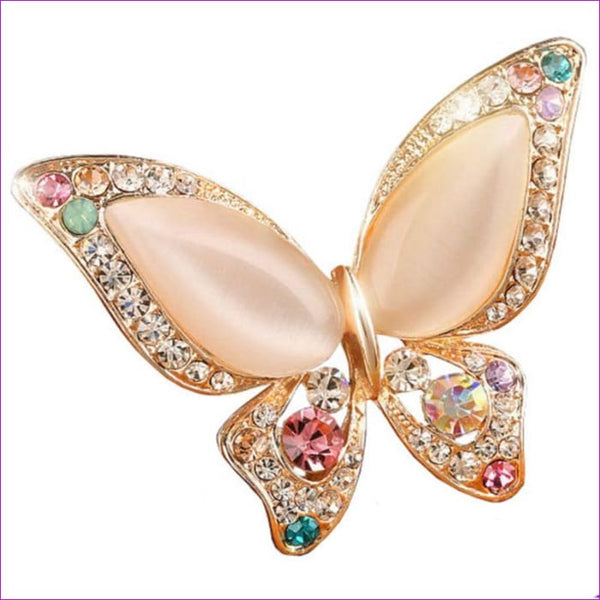 Factory price 3 colors for choose OPal rhinestone brooches for wedding butterfly brooch for women fashion jewelry good gift - Brooch Brooch
