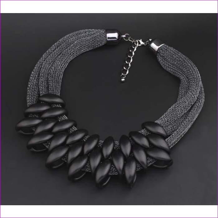 Fashion Charm Statement Necklaces Pendants Vintage Choker Collar Ethnic Black Gold 2018 New Maxi Pendants necklace women jewelry - black -