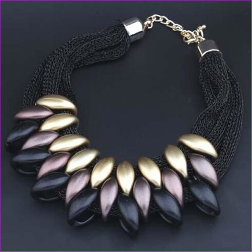Fashion Charm Statement Necklaces Pendants Vintage Choker Collar Ethnic Black Gold 2018 New Maxi Pendants necklace women jewelry - Pendants