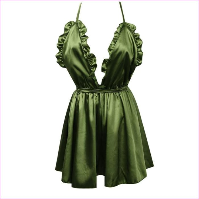 Fashion Women Sexy Sleepwear Style Rompers Clubwear Sexy Spaghetti Strap V-Neck Playsuit 3 color Women Nightgowns - Green / S - Sleep Wear